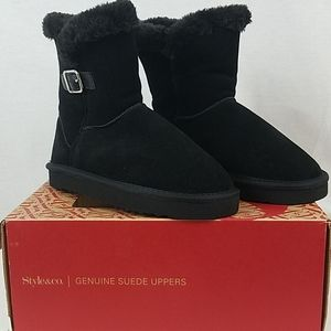 Style & Co. Tiny2 Black Booties